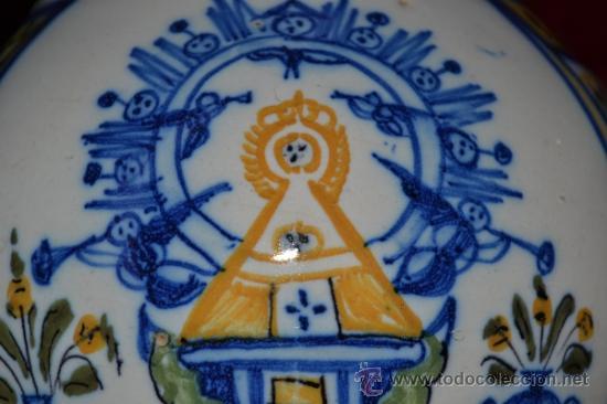 Antigüedades: PRECIOSA JARRA DE TALAVERA,VIRGEN DEL PRADO,S. XIX - Foto 13 - 37120357