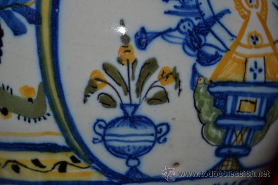 Antigüedades: PRECIOSA JARRA DE TALAVERA,VIRGEN DEL PRADO,S. XIX - Foto 8 - 37120357