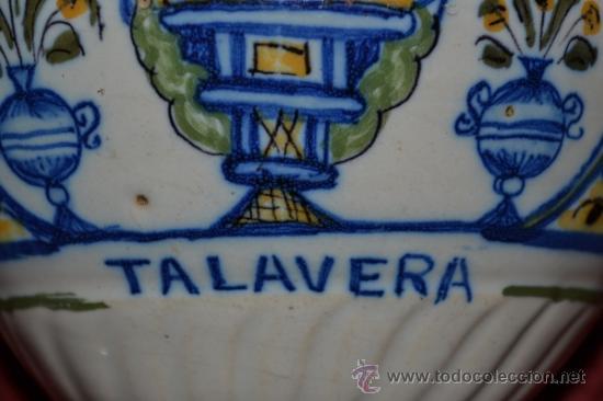 Antigüedades: PRECIOSA JARRA DE TALAVERA,VIRGEN DEL PRADO,S. XIX - Foto 9 - 37120357