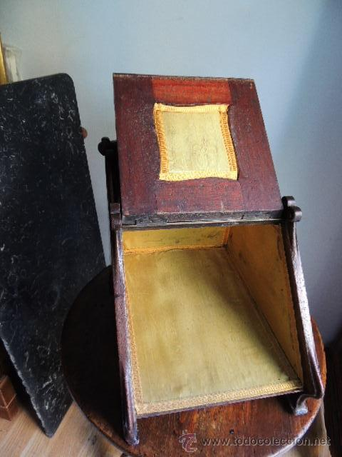 Antigüedades: MAGNIFICA CARBONERA REVISTERO VICTORIANA DE CAOBA CON ADORNOS EN BRONCE INGLESA - Foto 7 - 37114451