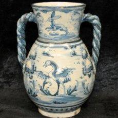 Antigüedades: BONITO JARRON EN CERAMICA PINTADA DE TALAVERA. NIVEIRO. . Lote 37154788