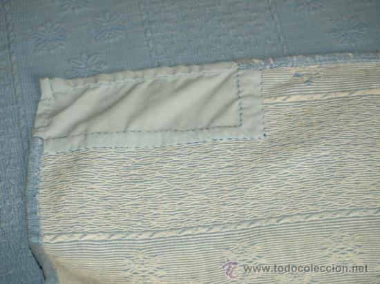 Antigüedades: COLCHA MATRIMONIO AÑOS 50. ALGODON. 230 CM X 205 CM. VER FOTOS. QUIZA SIRVE PARA TELA INDUMENTARIA. - Foto 11 - 37118395