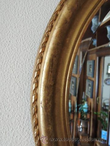 Antigüedades: PRECIOSO ESPEJO OVALADO FRANCES S.XIX - Foto 3 - 37124149