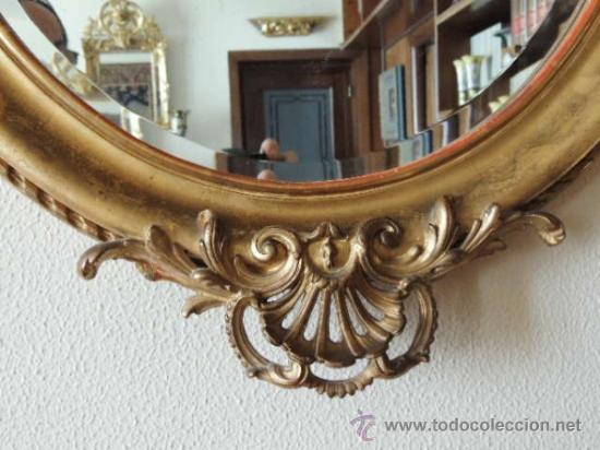 Antigüedades: PRECIOSO ESPEJO OVALADO FRANCES S.XIX - Foto 4 - 37124149