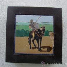 Antigüedades: AZULEJO DEL QUIJOTE TRIANA MENSAQUE. Lote 37146865