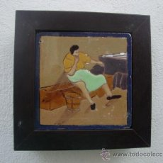 Antigüedades: AZULEJO DEL QUIJOTE TRIANA MENSAQUE. Lote 37146903