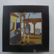 Antigüedades: AZULEJO DEL QUIJOTE TRIANA MENSAQUE. Lote 37147046