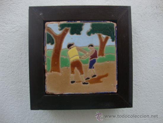 AZULEJO DEL QUIJOTE TRIANA MENSAQUE (Antigüedades - Porcelanas y Cerámicas - Triana)