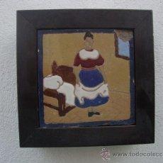 Antigüedades: AZULEJO DEL QUIJOTE TRIANA MENSAQUE. Lote 37147146