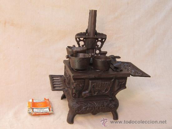cocina de leña miniatura en hierro fundido - Comprar Utensilios del ...