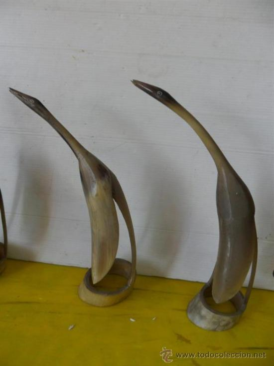 Antigüedades: 3 figuras hecha con asta - Foto 3 - 37178971