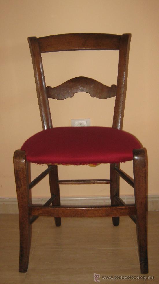 Pareja de sillas de caoba rubia francia s xix t comprar for Sillas tapizadas colores