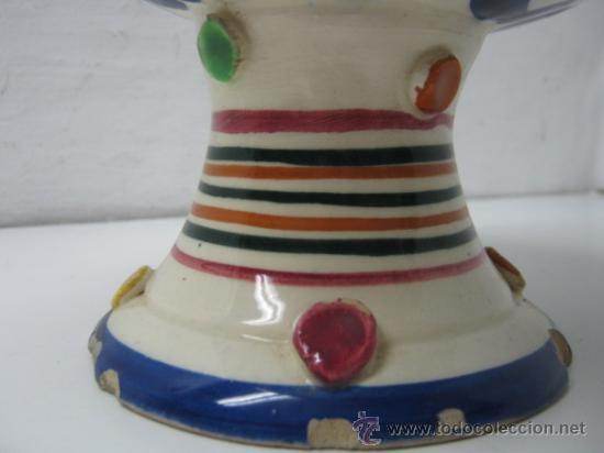 Antigüedades: Antiguo Botijo Manises Valencia 30 CM - ceramica esmaltada c.1900 - Foto 3 - 37187210