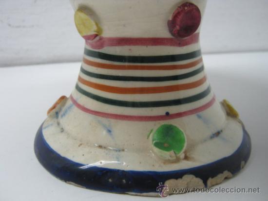Antigüedades: Antiguo Botijo Manises Valencia 30 CM - ceramica esmaltada c.1900 - Foto 4 - 37187210