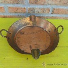 Antigüedades: CENICERO DE COBRE. Lote 37196347