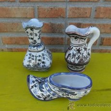 Antigüedades: 3 PEQUEÑAS FIGURAS DE CERAMICA. Lote 37196367
