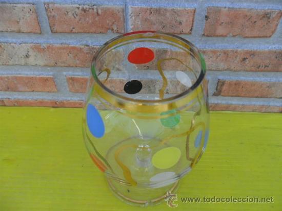 Antigüedades: copa de coñac años 60 colores - Foto 2 - 37196382