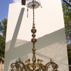 Antigüedades: LAMPARA LATON PRINCIPIOS SXX. Lote 38437578
