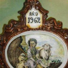 Antigüedades: PLACA DE RIBESALBES COPIANDO LOS MODELOS DE ALCORA. Lote 37200281