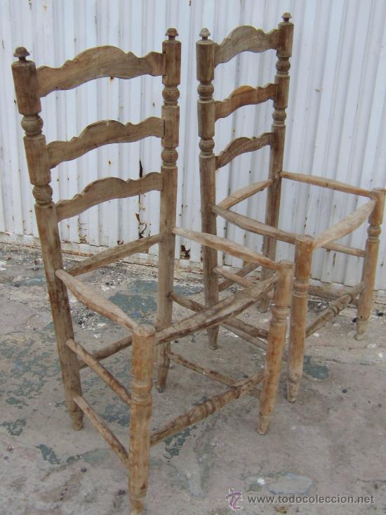 2 sillas en madera de morera para restaurar comprar - Restaurar sillas antiguas ...