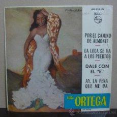 Discos de vinilo: LUISA ORTEGA - POR EL CAMINO DE ALMONTE + 3 - EP PHILIPS 1964 - SF. Lote 37209095