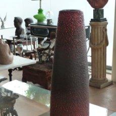 Antigüedades: JARRON EN CERAMICA ALEMANA, MARCAS EN BASE. Lote 37311893