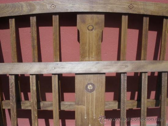 Antigüedades: CAMA MODERNISTA CON FLORECITAS. RESTAURADA. - Foto 5 - 37236981