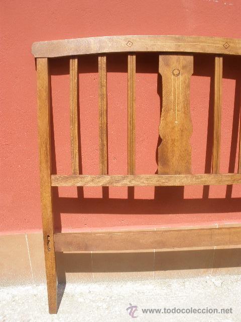 Antigüedades: CAMA MODERNISTA CON FLORECITAS. RESTAURADA. - Foto 7 - 37236981