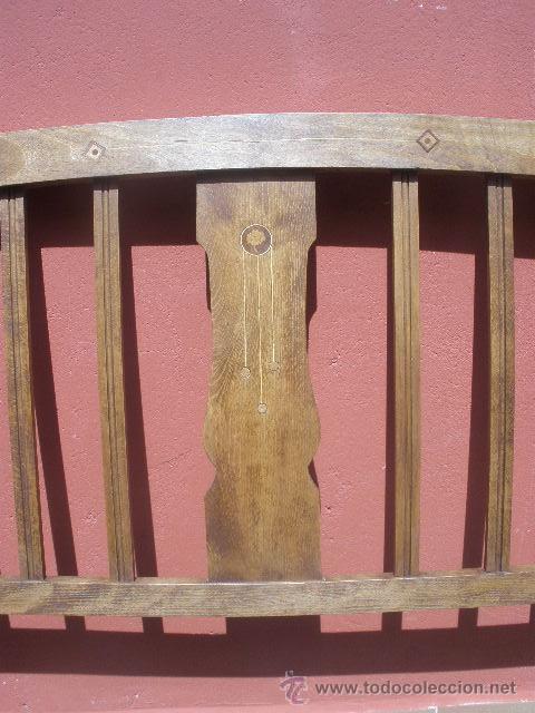 Antigüedades: CAMA MODERNISTA CON FLORECITAS. RESTAURADA. - Foto 8 - 37236981