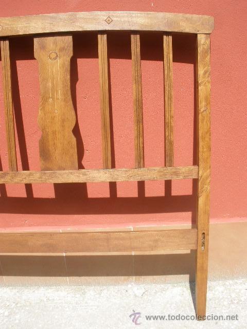 Antigüedades: CAMA MODERNISTA CON FLORECITAS. RESTAURADA. - Foto 9 - 37236981