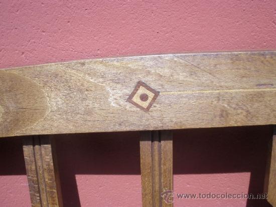 Antigüedades: CAMA MODERNISTA CON FLORECITAS. RESTAURADA. - Foto 12 - 37236981