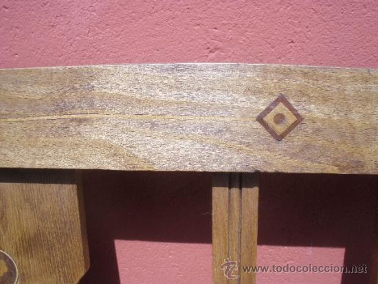 Antigüedades: CAMA MODERNISTA CON FLORECITAS. RESTAURADA. - Foto 13 - 37236981