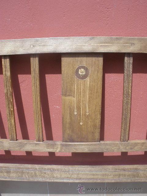 Antigüedades: CAMA MODERNISTA CON FLORECITAS. RESTAURADA. - Foto 17 - 37236981