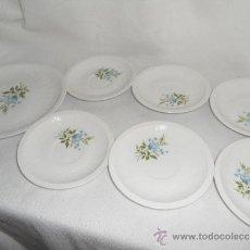 Antigüedades - PLATOS SELLO PONTESA - Made in Spain - 1 Grande + 6 pequeños - 37242784