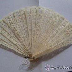 Antigüedades: ABANICO HUESO O MARFIL.. Lote 37243821