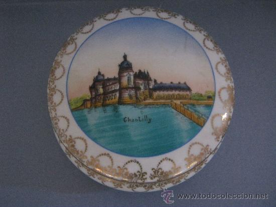 ANTIGUA CAJA DE PORCELANA LIMOGES PINTADA A MANO (Antigüedades - Porcelana y Cerámica - Francesa - Limoges)