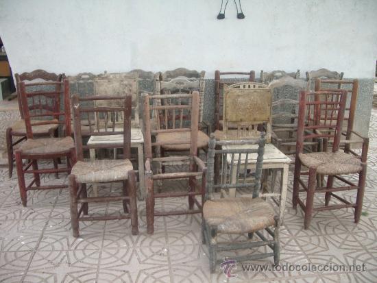 1900 1940 lote de 30 sillas antiguas para rest comprar - Restaurar sillas antiguas ...