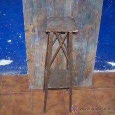 Antigüedades: MACETERO ANTIGUO DE MADERA PARA RESTARURAR. Lote 37283940