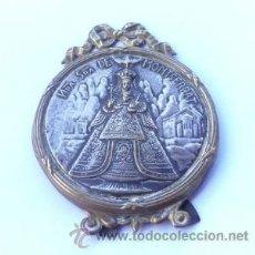 Antigüedades: MUY BONITO MARCO MINI SOBRE DE LA VIRGEN NUESTRA SRA, DE MONTSERRAT 1900 APROXMTE. Lote 37289632