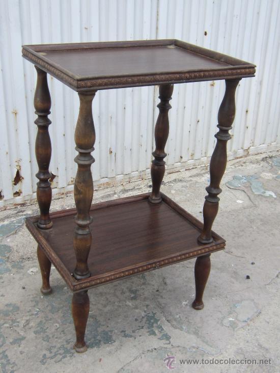 Mesa auxiliar en madera maciza comprar mesas antiguas en - Mesas auxiliares antiguas ...