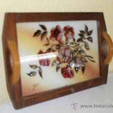 Antigüedades: BANDEJA DE MADERA. Lote 37290493