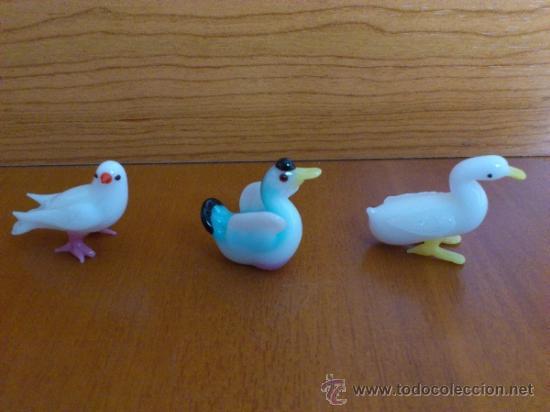 Antigüedades: Lote de tres aves en cristal de murano - Foto 3 - 37317769