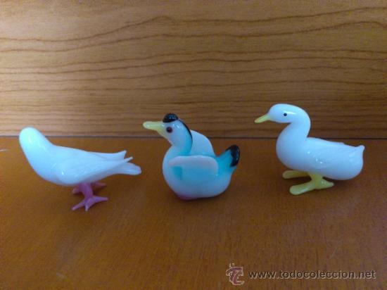 Antigüedades: Lote de tres aves en cristal de murano - Foto 2 - 37317769