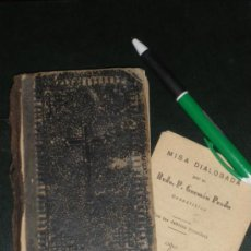 Antigüedades: DEVOCIONARIO MANUAL, COMPAÑIA DE JESUS. BILBAO 1889. Y MISA DIALOGADA INCOMPLETA.. Lote 37293300