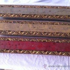 Antigüedades: TRIO CON ADORNOS PAN ORO. Lote 37306957