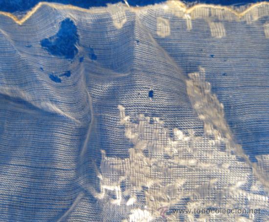 Antigüedades: ANTIGUO Y CURIOSO PAÑUELO, CON BARCOS, PALMERAS Y TORRES 26 X 26 CM - Foto 4 - 37404218