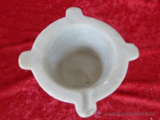 Antigüedades: Antiguo mortero o almirez en marmol - Foto 2 - 37436947