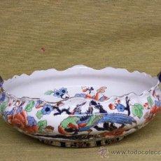 Antigüedades: CENTRO DE PORCELANA DE LOSOL WARE (SHANGHAI) INDIA INGLESA. PRINCIPIOS SIGLO XIX.. Lote 37349279