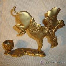 Antigüedades: ANTIGUO Y ORIGINAL CANDELABRO REALIZADO BRONCE PATINADO ART-DECO, ES ORIGINAL DE P.P S. XX. 1920. Lote 37351171