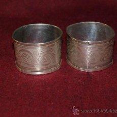 Antigüedades: PAREJA DE SERVILLETEROS, DE PLATA DE LEY. FINALES SIGLO XIX. . Lote 37356316